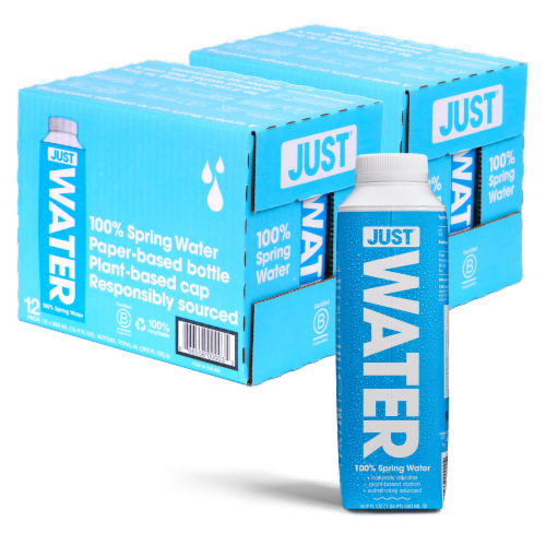 JUST Water, Bottled Alkaline 100% Spring Water, 24 Pack (16.9 fl oz) Perspective: back