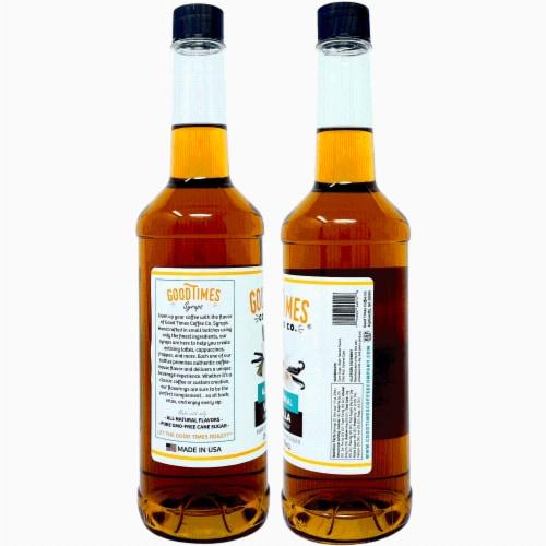 Vanilla and Caramel Syrup Variety Pack - All Natural, Vegan, Gluten-Free, Non-GMO Cane Sugar Perspective: back