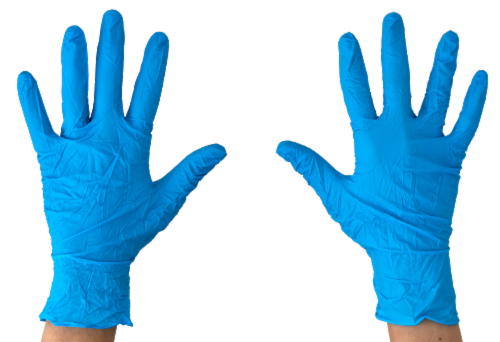 Nitrile Exam Glove, Powder Free, 100 ct (Large) Perspective: back