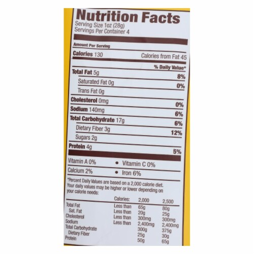 Hippeas Organic Vegan White Cheddar Chickpea Puffs, 4 Ounce -- 12 per case. Perspective: back