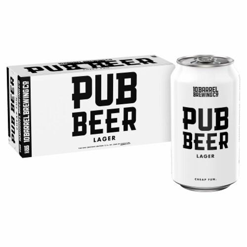 10 Barrel Brewing Pub Beer Lager Perspective: back