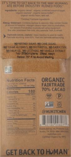 Hu Cashew Butter + Pure Vanilla Bean Organic Stone-Ground Cacao Dark Chocolate Bar Perspective: back