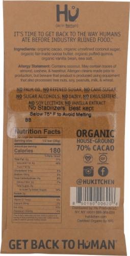Hu Vegan Paleo Vanilla Quinoa Qrispy Dark Chocolate Bar Perspective: back