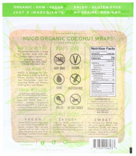 NUCO Organic Original Coconut Wraps Perspective: back