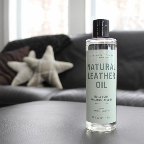 Leather Cleaner & Conditioner Oil 236ml, 100% Natural Perspective: back