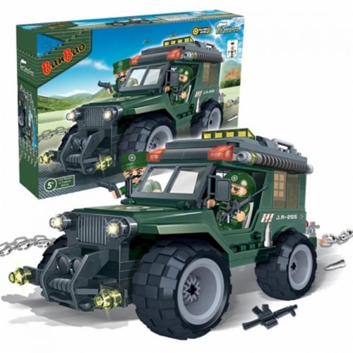 BanBao Interlocking Blocks Military Jeep 8255 (143 Pcs) Perspective: back