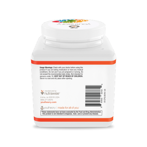 Youtheory® Skin, Hair & Nail Unflavored Formula Collagen Powder Perspective: back