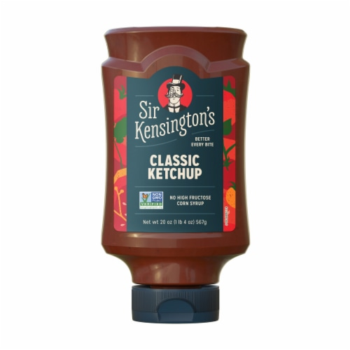 Sir Kensington's Vegan Classic Ketchup Condiment Perspective: back