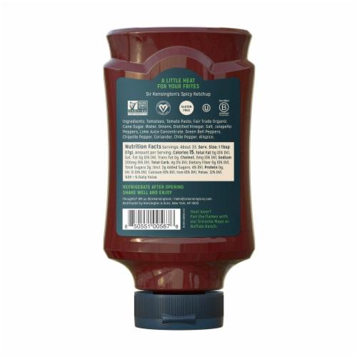 Sir Kensington's Vegan & Paleo Spicy Ketchup Gluten-Free Condiment Perspective: back