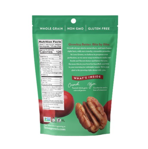 Love Grown® Gluten-Free Cranberry Pecan Toasted Granola Perspective: back