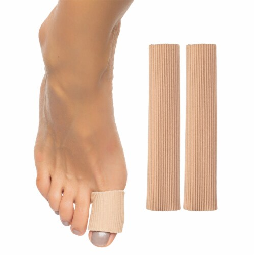 ZenToes Open Toe Tubes Fabric Gel Lined Sleeves Protect Corns, Blisters - 2 Pack (Large) Perspective: back