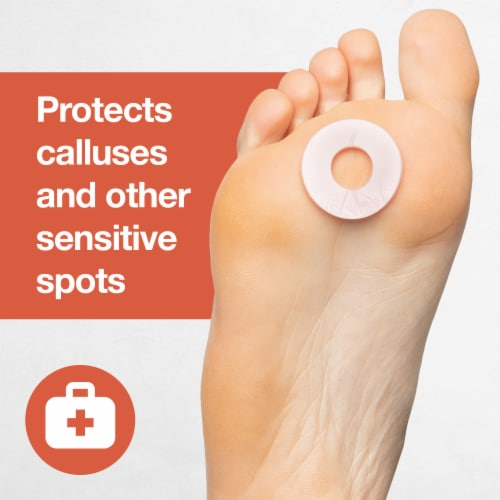 ZenToes Soft Foam Callus Cushions Round Waterproof Pads Toe and Foot Protectors (24 Count) Perspective: back