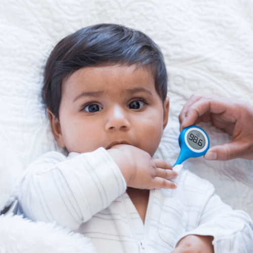 Kinsa QuickCare Bluetooth Smart Thermometer Perspective: back