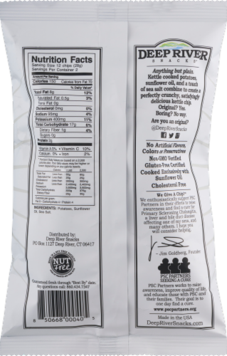Deep River Snacks Original Salted Kettle Cooked Potato Chips Perspective: back