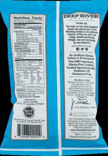 Deep River Snacks Sea Salt & Vinegar Kettle Cooked Potato Chips Perspective: back