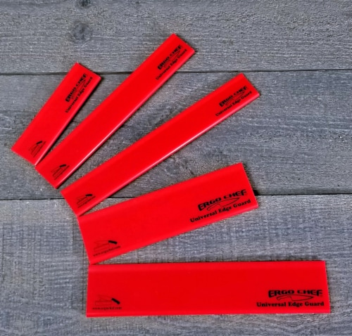 Chef Gear 5 Piece Knife Edge Guard Set Red Perspective: back