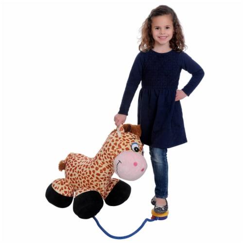 "iPlush 26"" Inflatable Giraffe Stuffed Animal Perspective: back"