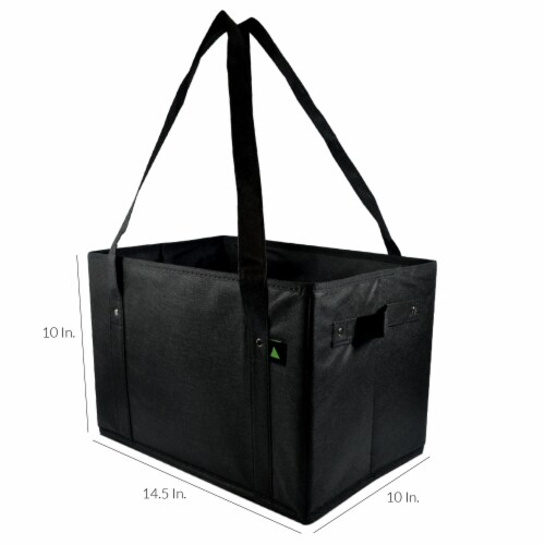 Reusable Grocery Box Bags, Collapsible Bins, Foldable Storage, Large Utility Totes Perspective: back