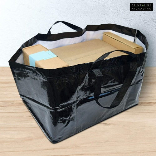 Prime Line Packaging Large Tote Bags for Carrying Bulk Items, Storage Shopping Bags Perspective: back