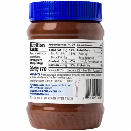 Peanut Butter & Co. Dark Chocolatey Dreams Peanut Butter Spread Perspective: back