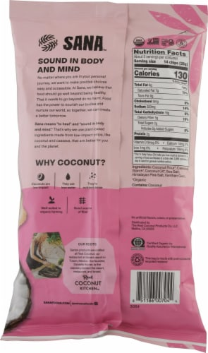 The Real Coconut Organic Himalayan Pink Salt Grain Free Tortilla Chips Perspective: back