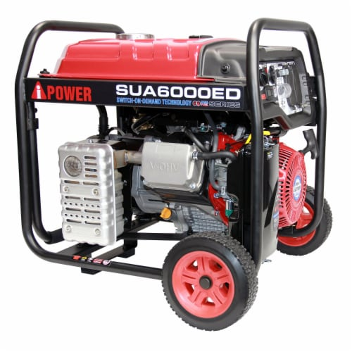 A-iPower SUA6000ED 6000W Portable Gas & Propane Powered Generator w/ 4 Gal Tank Perspective: back