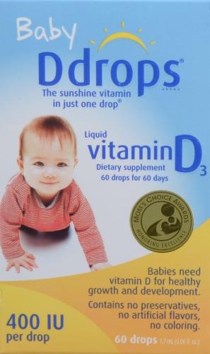 Baby Ddrops Liquid Vitamin D3 400 IU Perspective: back