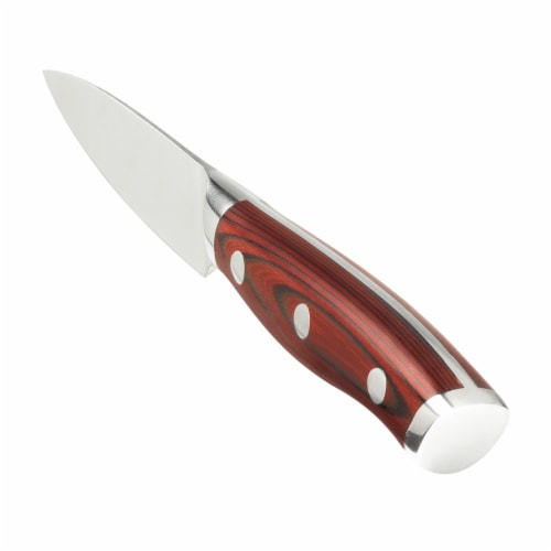 "Ergo Chef CRIMSON 3.5"" Paring knife - Red G10 Handle Perspective: back"