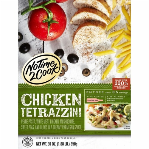 No Time 2 Cook Chicken Tetrazzini Frozen Meal Perspective: back