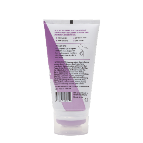 Type:A® The Dreamer White Floral Linen Aluminum Free Deodorant Cream Perspective: back