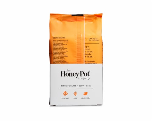 The Honey Pot Normal Feminine Intimate Wipes Perspective: back