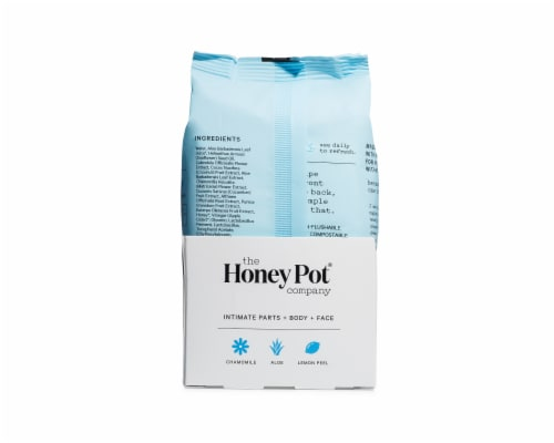 The Honey Pot Sensitive Fragrance Free Feminine Care Wipes Perspective: back