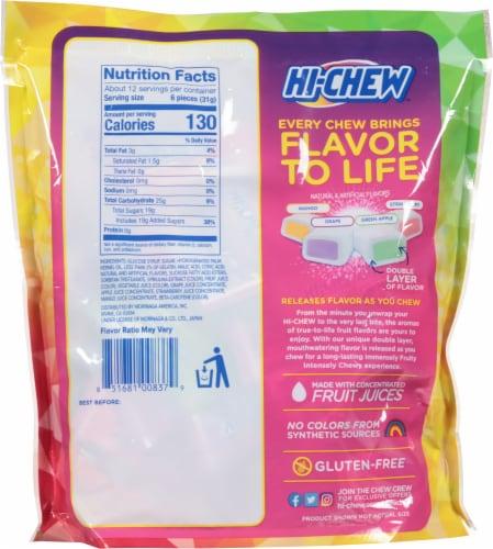 Hi-Chew Original Mix Fruit Chews Perspective: back