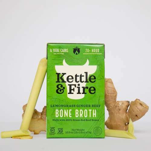 Kettle & Fire Lemongrass Ginger Beef Bone Broth Perspective: back