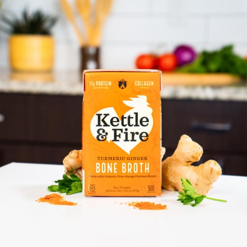 Kettle & Fire Turmeric Ginger Bone Broth Perspective: back
