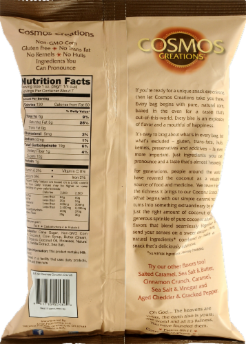 Cosmos Creations Coconut Crunch Puffed Corn Perspective: back