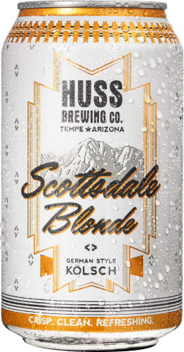 Huss Brewing Co. Scottsdale Blonde German Style Kolsch Perspective: back