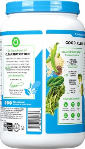 Orgain Organic Vanilla Bean Protein & Greens Plant Based Powder Perspective: back