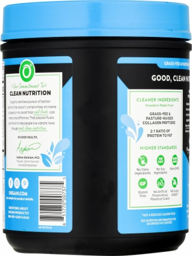 Orgain® Chocolate Ketogentic Collagen Protein Powder Perspective: back