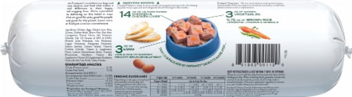 Freshpet Select Puppy Growth & Development Recipe Chicken Egg & Vegetable Slice & Serve Roll Perspective: back