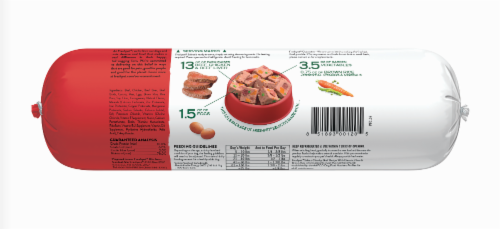Freshpet Select Chunky Beef Recipe Slice & Serve Roll Dog Food Perspective: back