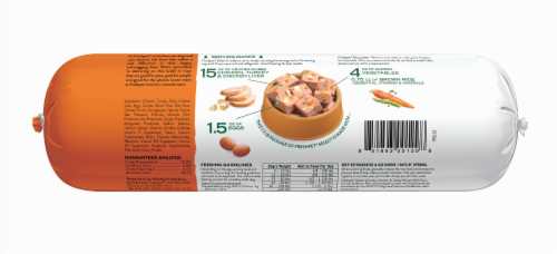 Freshpet Select Chunky Chicken & Turkey Recipe Slice & Serve Roll Dog Food Perspective: back