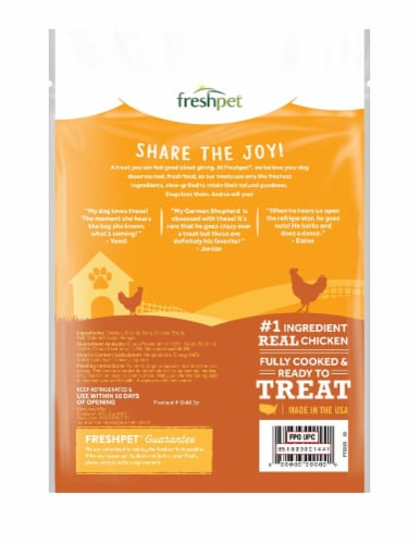 Freshpet DogJoy Slow-Grilled Chicken Recipe Treats Perspective: back