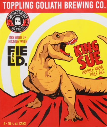 Toppling Goliath Brewing Co. King Sue Double India Pale Ale Beer Perspective: back
