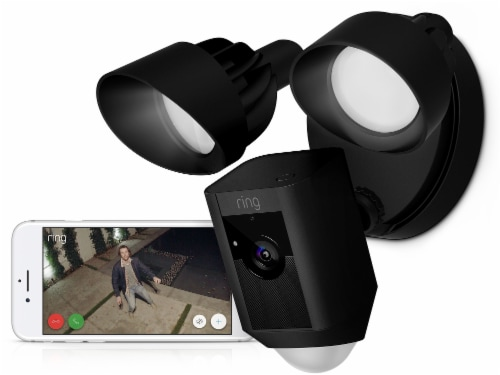 Ring™ Floodlight Camera - Black Perspective: back