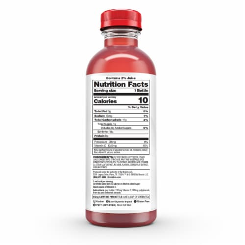 Bai Panama Peach Antioxidant Infused Beverage Perspective: back