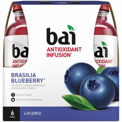 Bai Brasilia Blueberry Antioxidant Infused Beverages Perspective: back