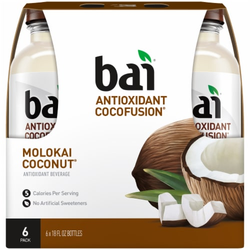 Bai Cocofusion Molokai Coconut Antioxidant Infused Beverage Perspective: back