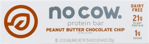 no cow® Peanut Butter Chocolate Chip Protein Bars Perspective: back