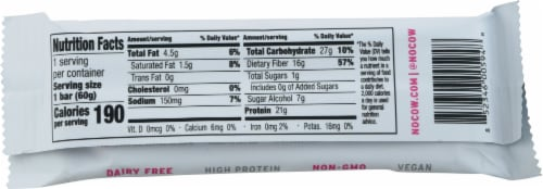 No Cow® Birthday Cake Protein Bar Perspective: back
